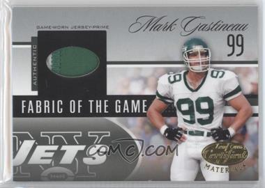 2006 Leaf Certified Materials - Fabric of the Game - Team Logo #FOTG-36 - Mark Gastineau /25