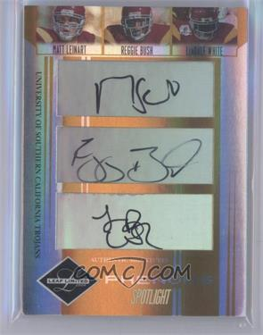 2006 Leaf Limited - [Base] - Gold Spotlight #301 - Matt Leinart, Reggie Bush, Lendale White /5 [Near Mint]