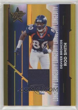2006 Leaf Rookies & Stars - [Base] - Longevity Parallel Gold Materials [Memorabilia] #33 - Rod Smith /250
