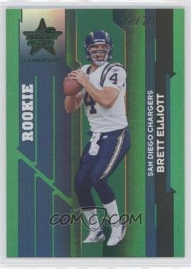 2006 Leaf Rookies & Stars Longevity - [Base] - Emerald #198 - Brett Elliott /29