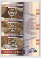 Trent Green, Tony Gonzalez, Larry Johnson #/50