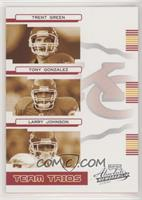 Trent Green, Tony Gonzalez, Larry Johnson #/200
