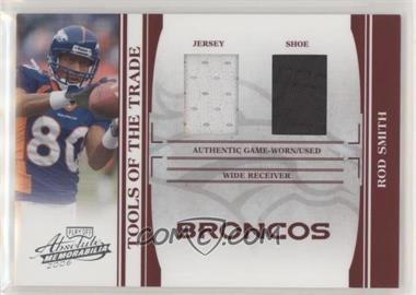 2006 Playoff Absolute Memorabilia - Tools of the Trade - Red Double Materials [Memorabilia] #TOT-117 - Rod Smith /100