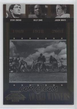 2006 Playoff Contenders - Award Winners #AW-42 - Billy Sims, Jason White, Steve Owens /1000