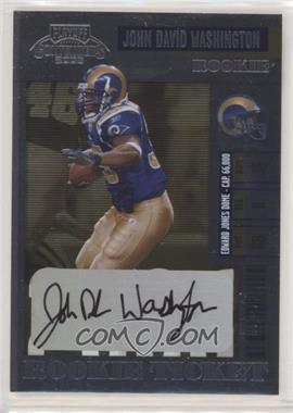 2006 Playoff Contenders - [Base] #142 - John David Washington