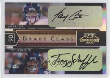 2006 Playoff Contenders - Draft Class - Black Autographs [Autographed] #DC-11 - Jay Cutler, Tony Scheffler /10