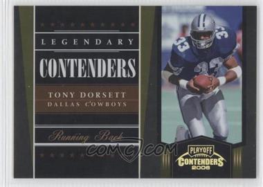 2006 Playoff Contenders - Legendary Contenders - Gold #LC-19 - Tony Dorsett /250