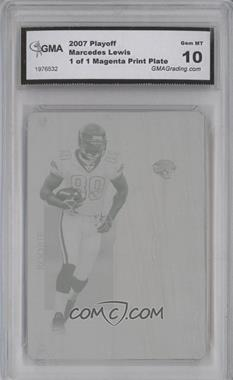 2006 Playoff NFL Playoffs - [Base] - Printing Plate Magenta #100 - Marcedes Lewis /1 [ENCASED]