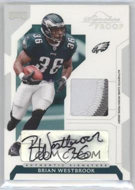 2006 Playoff NFL Playoffs - [Base] - Silver Signature Proof Materials [Autographed] [Memorabilia] #70 - Brian Westbrook /20
