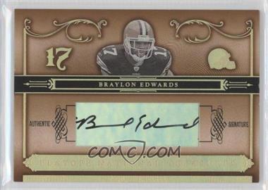 2006 Playoff National Treasures - [Base] - Gold Signatures [Autographed] #41 - Braylon Edwards /25