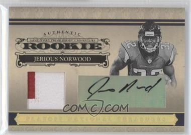 2006 Playoff National Treasures - [Base] - Rookie Gold Materials Prime Signatures [Autographed] [Memorabilia] #126 - Jerious Norwood /25