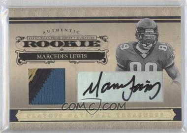 2006 Playoff National Treasures - [Base] - Rookie Gold Materials Prime Signatures [Autographed] [Memorabilia] #130 - Marcedes Lewis /25