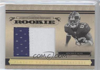 2006 Playoff National Treasures - [Base] - Rookie Jumbo Gold Materials Prime [Memorabilia] #113 - Sinorice Moss /10