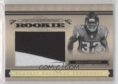 2006 Playoff National Treasures - [Base] - Rookie Jumbo Gold Materials Prime [Memorabilia] #126 - Jerious Norwood /10