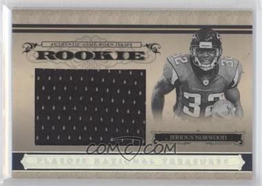 2006 Playoff National Treasures - [Base] - Rookie Jumbo Silver Materials [Memorabilia] #126 - Jerious Norwood /25