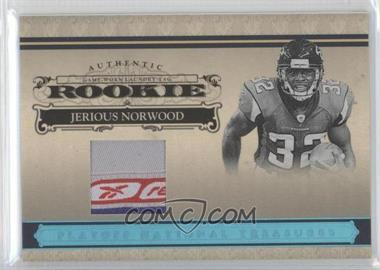 2006 Playoff National Treasures - [Base] - Rookie Laundry Tag Materials [Memorabilia] #126 - Jerious Norwood /5