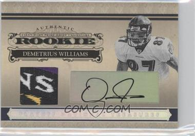 2006 Playoff National Treasures - [Base] - Rookie Silver Materials Signatures [Autographed] [Memorabilia] #123 - Demetrius Williams /49