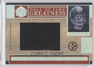 2006 Playoff National Treasures - Hall of Fame Greatness Materials - Jumbo #HOFG-TB - Terry Bradshaw /25