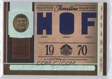 2006 Playoff National Treasures - Timeline - HOF Materials [Memorabilia] #TL-HM - Hugh McElhenny /25