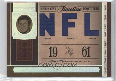 2006 Playoff National Treasures - Timeline - NFL Materials [Memorabilia] #TL-FT - Fran Tarkenton /99