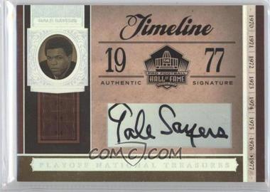 2006 Playoff National Treasures - Timeline - Signatures [Autographed] #TL-GS - Gale Sayers /8