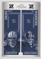 Brett Favre, Eli Manning
