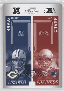 2006 Playoff Prestige - League Leaders #LL-21 - Tom Brady, Trent Green, Brett Favre, Eli Manning