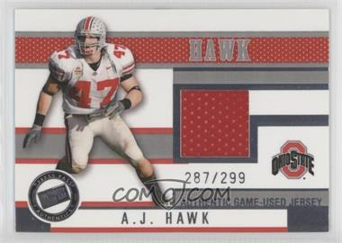 2006 Press Pass - Game-Used Jersey - Gold #JC/AH - A.J. Hawk /199