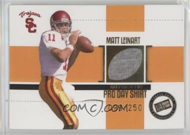2006 Press Pass SE - Game Used Jerseys - Gold #JC/ML - Matt Leinart /250