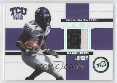 2006 Press Pass SE - Game Used Jerseys - Premium #JC/CR - Cory Rodgers /25