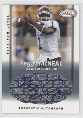 2006 SAGE - Autographs - Platinum Level #A33 - Reggie McNeal /40