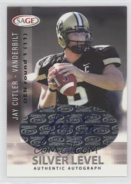 2006 SAGE - Autographs - Silver Level #A14 - Jay Cutler /100