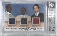 Vince Young, Reggie Bush, Matt Leinart [BGS8.5NM‑MT+]