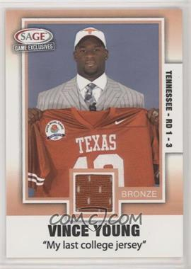 2006 SAGE Game Exclusives - Vince Young Jerseys - Bronze #VY 4 - Vince Young