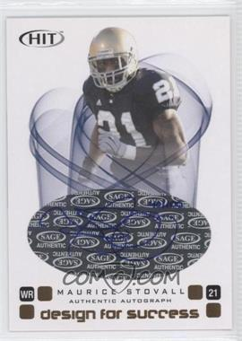 2006 SAGE Hit - Design for Success - Autographs [Autographed] #D-25 - Maurice Stovall /100