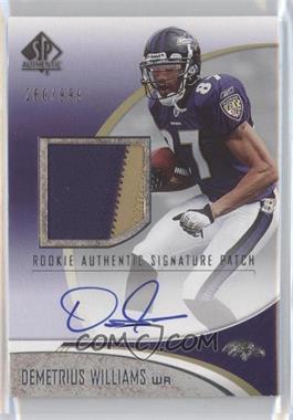 2006 SP Authentic - [Base] #233 - Demetrius Williams /999