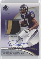 Rookie Authentic Signature Patch - Demetrius Williams #/999