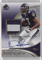 Rookie Authentic Signature Patch - Demetrius Williams [Noted] #/999
