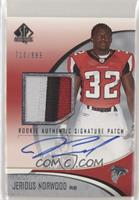 Rookie Authentic Signature Patch - Jerious Norwood #/999