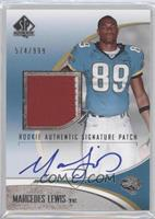Rookie Authentic Signature Patch - Marcedes Lewis #/999