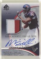 Rookie Authentic Signature Patch - Mario Williams #/699