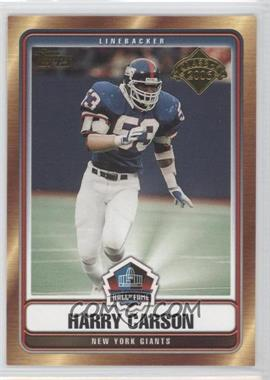 2006 Topps - Hall of Fame Class of 2006 #HOF-HC - Harry Carson