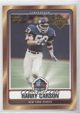 2006 Topps - Hall of Fame Class of 2006 #HOFT-HC - Harry Carson