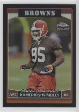 2006 Topps Chrome - [Base] - Black Refractor #166 - Kamerion Wimbley /199