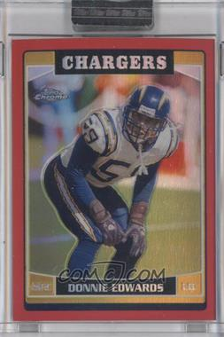 2006 Topps Chrome - [Base] - Red Refractor #80 - Donnie Edwards /259