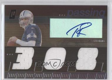 2006 Topps Paradigm - Career Highs Autographed Triple Relic #TPCHP-TR - Tony Romo /99