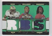 Laurence Maroney, Reggie Bush, DeAngelo Williams #/18