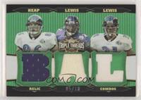 Todd Heap, Jamal Lewis, Ray Lewis #/18