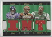 Ty Law, Deltha O'Neal, Ed Reed [Noted] #/18