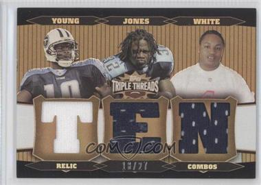 2006 Topps Triple Threads - Relic Combos - Sepia #TTRC77 - Adam Jones, Vince Young, LenDale White /27